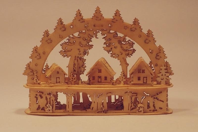 3D Lichtboog met dorp en sockel, LB243