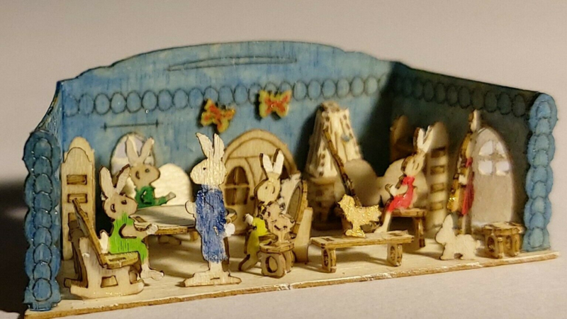 Kleine konijnenkamer