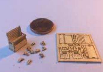 Speelbank met speelgoed en kist, M155
