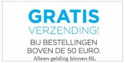 Geen verzendkosten boven de 50 euro binnen NL