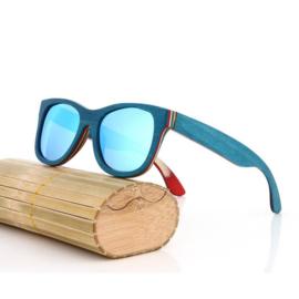 Woodlooks Skateboard Licht Blauw Sunglass