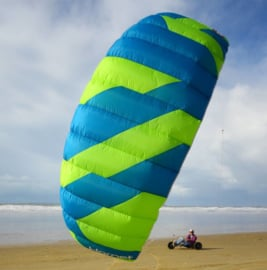 Peter Lynn Hornet 4-line all-round power kite met bar