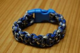 Bracelet FLAUNTAROUND clip paracord blue