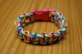 Bracelet FLAUNTAROUND clip paracord pink