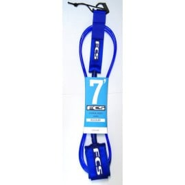 "FCS Surf Regular Leash (7mm) 7"" blue glass"