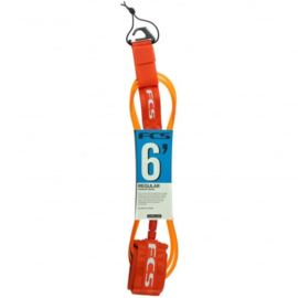 "FCS Surf Regular Leash (7mm) 6"" orange"