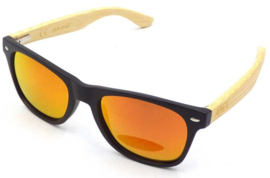 APHEX Sunglass Hexa matt black frame revo red lens