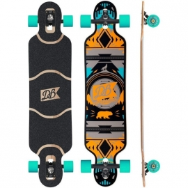 DB Longboards Urban Native 40 Orange and Teal complete