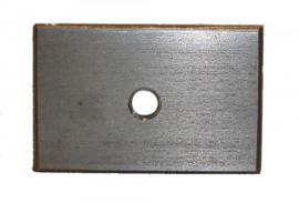 RVS plate met M8 droefsraad