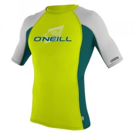 O'Neill Youth Skins S/S Crew Lycra lime