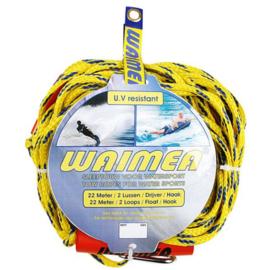 WAIMEA Sleeplijn voor de watersport geel/blauw