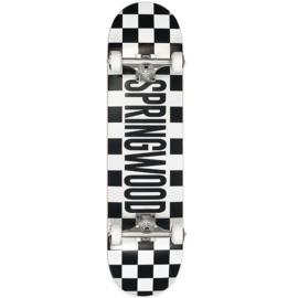 SPRINGWOOD Checkers Complete Skateboard 8.0