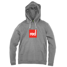 Red Square Unisex Hoodie - Grey