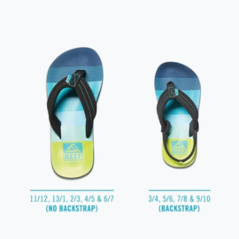 REEF Little AHI aqua/green slippers