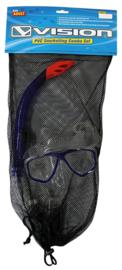 Vision Snorkel set voor volwassen bril + snorkel
