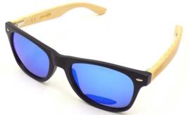 APHEX Sunglass Hexa matt black frame revo blue lens