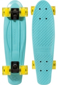 Kryptonics Original Torpedo Mini Cruiser Skateboard 22.5 Blue Yellow wheels