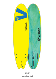 "VISION Softlite 6'6"" Swallow Tail yellow royal/blue"