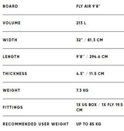 "FANATIC Fly Air SUP 9'8"" blue"