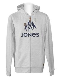 JONES Truckee Hoody Zip grey heather