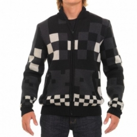 OXBOW Tydril Pull-Zip Jacquard black (windstopper)