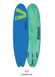 "VISION Softlite 6'6"" Swallow Tail royal blue/lime"