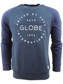 GLOBE Windsor Crew II sweat blue marle