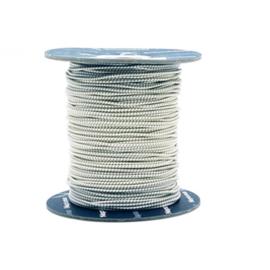U-Rope Elastiek 4mm wit met blauw draadje