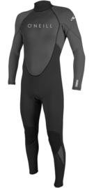 O'neill reactor II 3/2 back zip full youth black / slade