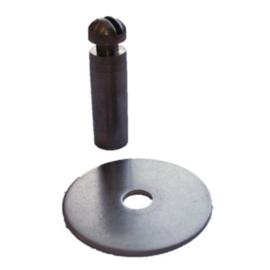 RVS Ring 30 mm met een M8 gat voor  draadstift