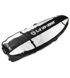 UNIFIBER Double Pro Boardbag 255 x 80 with XL Wheels