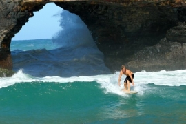 SURFING HOLE IN THE WALL!