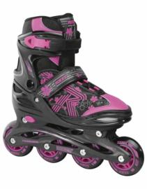 ROCES Jokey 3.0 junior skates 38-41 black/pink verstelbaar