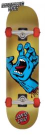 "SANTA CRUZ skateboard Screaming Hand gold 7.75"""