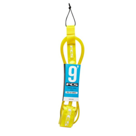 "FCS Surf Regular Knee Leash (7mm) 9"" cab yellow"