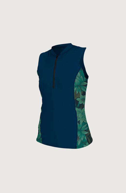 ONEILL WMS  Front Zip Cap Sleeve Sun Shirt