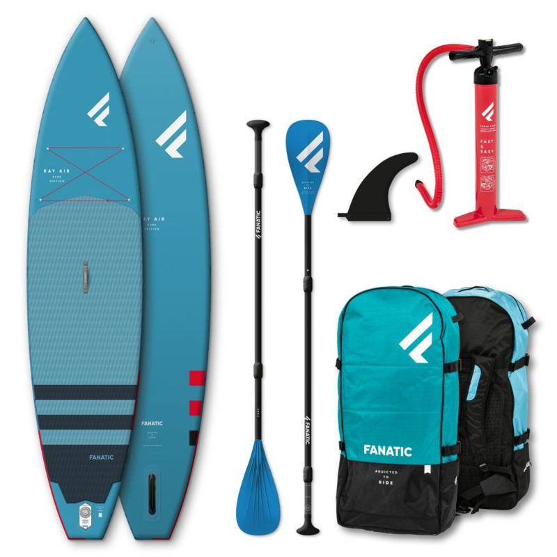 """FANATIC Ray Air Pure complete SUP set 11'6"""" blue"""
