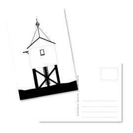 Kaart | Drenkenlingenhuisje zwart-wit