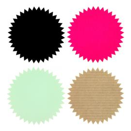 Stickers ster | Zwart, mint, roze of kraft 10 st.