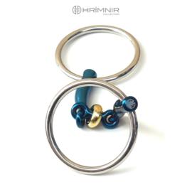 Hrímnir Titanium bit Fjóla, loose ring