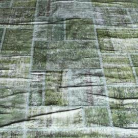 Vintage patchwork Turks Carpet Green