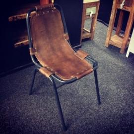 Vintage stoel leer