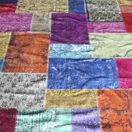 Vintage patchwork Turks Carpet Colors
