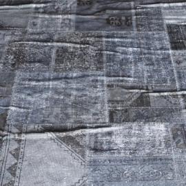 Vintage patchwork Turks Carpet Grey