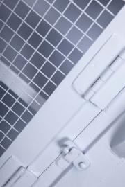 tvmeubel wit met gaasdeuren