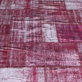 Vintage patchwork Turks Carpet Red