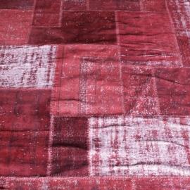 Vintage patchwork Turks Carpet Dark Red