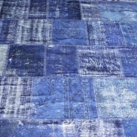 Vintage patchwork Turks Carpet Blue