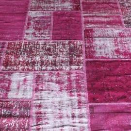 Vintage patchwork Turks Carpet Pink