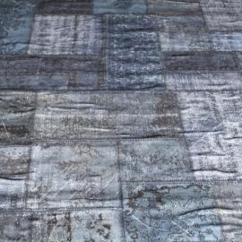 Vintage patchwork Turks Carpet old green